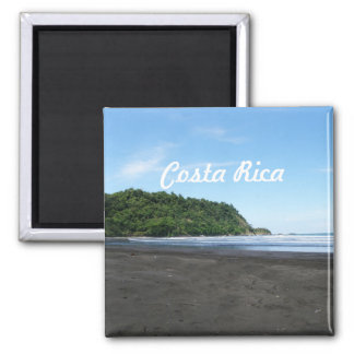 Black Sand Beach Refrigerator Magnets