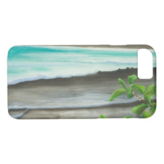Black Sand Beach on Maui iPhone 7 Case