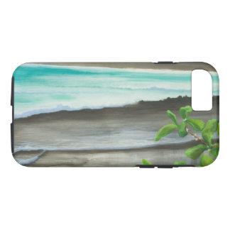 Black Sand Beach on Maui iPhone 7 Case