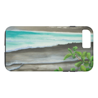 Black Sand Beach on Maui iPhone 7 Plus Case