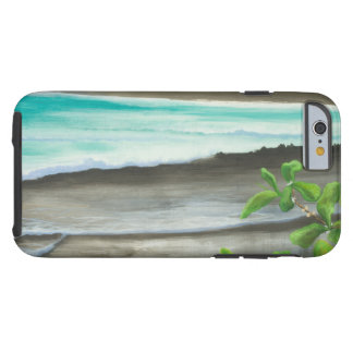 Black Sand Beach on Maui Tough iPhone 6 Case