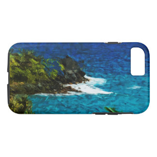 Black Sand Beach on the Road to Hana Maui Abstract iPhone 7 Case