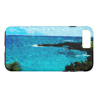 Black Sand Beach on the Road to Hana Maui Abstract iPhone 7 Plus Case
