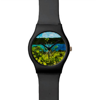 Black Sand Beach On the Road to Hana Maui Abstract Watches