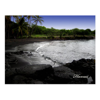 Black Sand Beach Postcards, Customizable Postcard