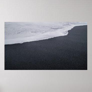 Beach Themed Black Sand Beach Poster