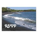 Black Sand Beach RSVP Card