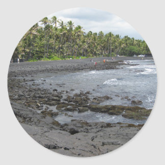 Black Sand Beach Sticker