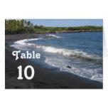 Black Sand Beach Table Card