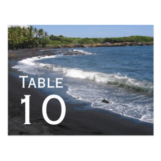 Black Sand Beach Table Number Postcard