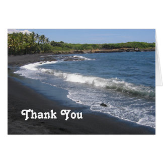 Black Sand Beach Thank You Card