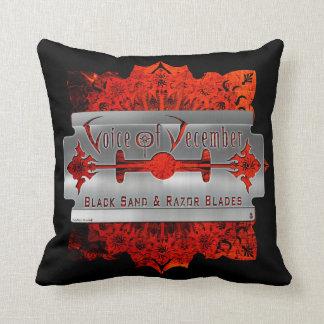 Black Sand & Razor Blades Pillow