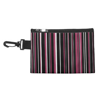 Black, Sangria Pink, White Barcode Stripe Accessory Bag