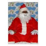 Black Santa Card