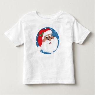 Black Santa Cartoon (Blue) Toddler T-shirt