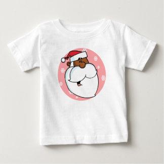Black Santa Cartoon (Pink) Shirt