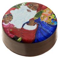 Black Santa Christmas Dipped Oreo Cookies Chocolate Covered Oreo
