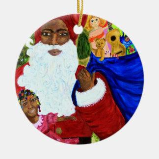 African American Santa Ornaments & Keepsake Ornaments | Zazzle