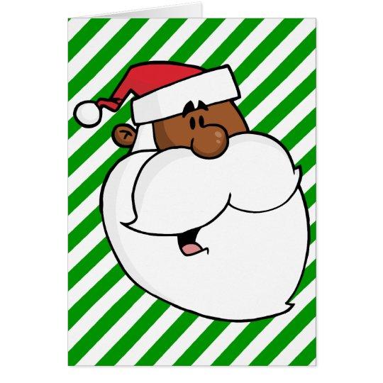 Black Santa Claus Card