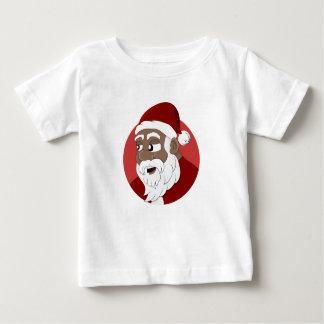 Black Santa Claus Cartoon Baby T-Shirt