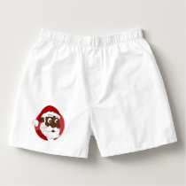 Black Santa Claus Cartoon Boxers