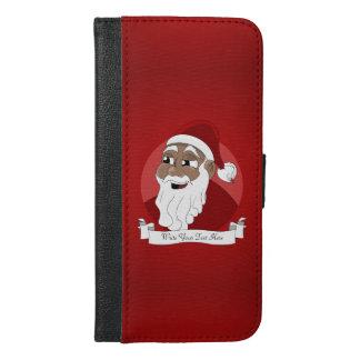 Black Santa Claus Cartoon iPhone 6/6s Plus Wallet Case
