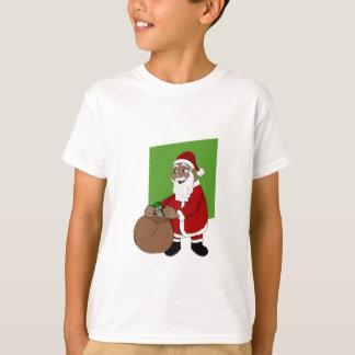 Black Santa Claus Cartoon T-Shirt