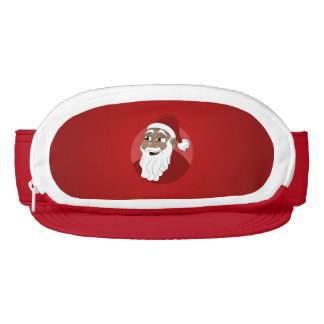 Black Santa Claus Cartoon Visor