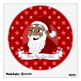 Black Santa Claus Cartoon Room Graphics