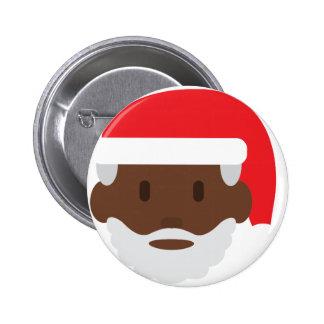 black santa claus emoji button