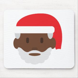 black santa claus emoji mouse pad