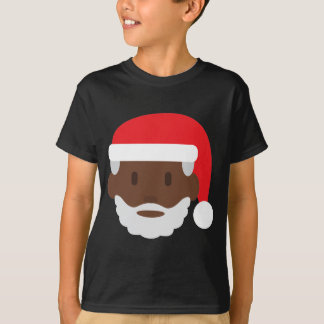 black santa claus emoji T-Shirt