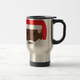black santa claus emoji travel mug