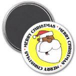 Black Santa Claus Refrigerator Magnets