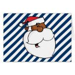 Black Santa Claus Stationery Note Card