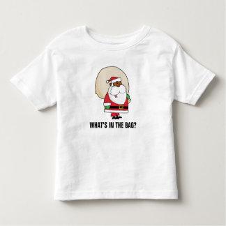 Black Santa Claus with Toy Sack Toddler T-shirt