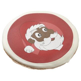 Black Santa Clause Cartoon Sugar Cookie