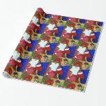 Black Santa Glossy Wrapping Paper - Christmas Wrap