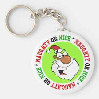 Black Santa is Making His Naughty List Basic Round Button Keychain