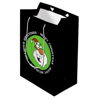Black Santa is Making His Naughty List Medium Gift Bag