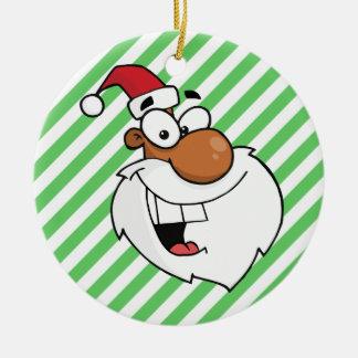 Black Santa is Making His Naughty List Christmas Ornament