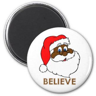 Black Santa Magnet