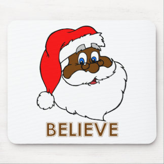Black Santa Mouse Pad