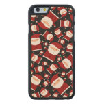 Black santa pattern carved® maple iPhone 6 case