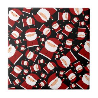 Black santa pattern ceramic tiles