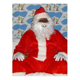 Black Santa Postcard