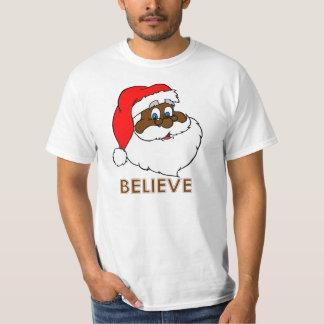 Black Santa T Shirts
