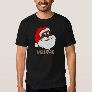 Black Santa Tee Shirts