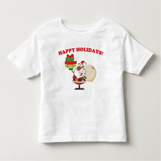 Black Santa with Gifts Toddler T-shirt