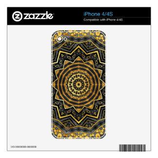 Black sapphire mandala skins for the iPhone 4